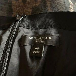 Ann Taylor Skirts - ANN TAYLOR PETITE WOOL SHIMMER LEOPARD PRINT SKIRT